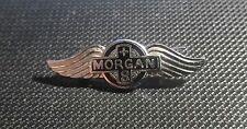 Morgan Brosche emailliert +8 - 32x10mm 80er Jahre Original