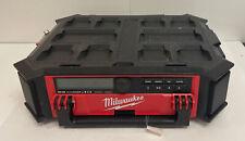 READ DESC - Milwaukee 2950-20 M18 PACKOUT Bluetooth Radio Speaker - Radio Only
