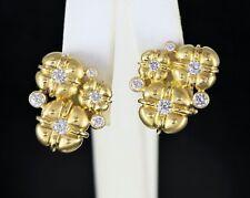 SIDNEY GARBER 18ct Oro Amarillo Macizo 1.00ct Diamante Omega PARTE POSTERIOR