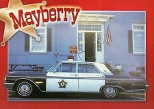 Mayberry Jail Barney's Car Ford Galaxy Mt. Airy NC, Andy Griffith Show, Postcard