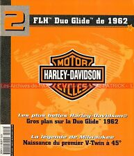 HARLEY DAVIDSON FLH 1200 Duo Glide 1962 ; 1909 : 1er V-Twin à 45° MOTO HD