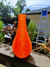 3d Printed Wave Vase, choose color, material, size. Flower pot, ABS, PLA, PETG
