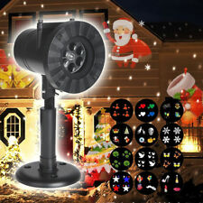 LED Outdoor Landscape Laser Projector Light 12Patterns Garden Xmas Party UK Plug
