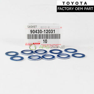 GENUINE TOYOTA SCION LEXUS OIL DRAIN PLUG WASHER GASKET SET OF 10 OEM 9043012031