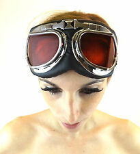 New Goggles Red Lens Crazy Stretch Cyber Steampunk Victorian Fantasy