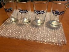 4 Bud Light Bar Beer Glasses.