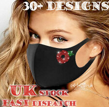 fashion face mask glitter sparkly bling washable Reusable designer covering XMAS