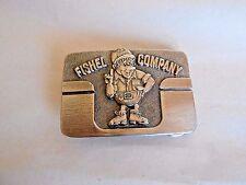 Vintage Fishel Company Ditch Digger Equipment Advertising Belt Buckel