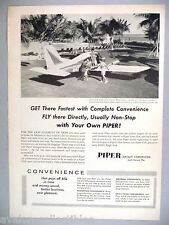 Piper Aztec Airplane PRINT AD - 1961