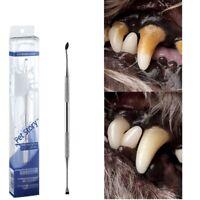 Dog Cat Cleaning Teeth Toothbrush Stainless Steel Tartar Dental Stone Clean Kit