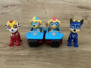 Paw Patrol Mighty Pups Figures Mighty Twins With Vehicles Mighty Chase Marshall