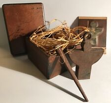 Jan Barboglio Guardian Angel Complete In Box With Card, Angel, Nail And Straw