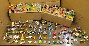 Lot 125 Digimon Mini Figures Rare & Metal Tin & 4 Additional Damaged Mini's