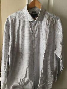 Jos A Bank Mens  Reserve No Wrinkles Plaid Long Sleeve Dress Shirt 17 - 35