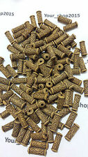 50 x New Imitation Wood effec Plastic Tube Loose Findings Spacer Beads 16x6mm
