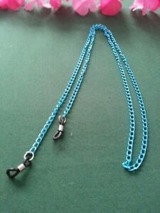 LADYES MENS CHAINS BLUE HOLDER READING GLASSES SUNGLASSES LOVELY HANDMADE