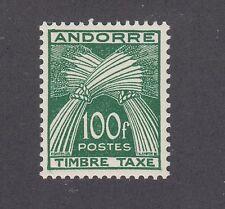 French Andorra Sc J41 MNH. 1953 100fr Postage Due, VF