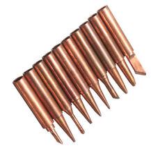 10pcs/Set Solder Tool 900M-T Soldering Tip Pure Copper Electric Iron Head Series