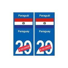Paraguay Paraguái sticker numéro département au choix autocollant plaque immatri