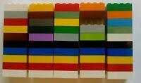 50x LEGO 3001 2x4 Multicoloured Bricks/Blocks Used Bulk Joblot **FREE POSTAGE**