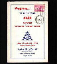 Opc 1955 2nd Asda Stamp Show Program