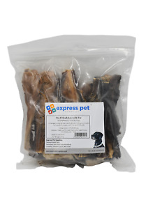 Dried Beef Headskin Slice With Fur/Hair, 100% Natural Dog Treat Chew