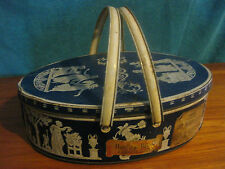 """Huntly and Palmers Biscuit Tin In A Jasperware Style Export """"Silver Wedgewood"""""""