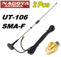Car SMA-F Mobile Dual Band Antenna For Nagoya Yaesu Icom Kenwood Motorola Radio
