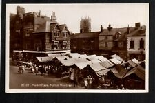 Melton Mowbray - Market Place - real photographic postcard