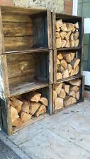 VINTAGE WOODEN APPLE FRUIT CRATES X 6  Log Store   Timber Store   Wood Burner *