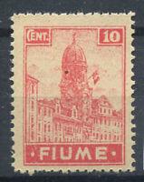 Rijeka 1919 Sass. 35 Postfrisch 40% 10 c.