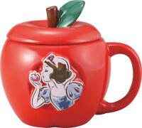 Snow White Poison Apple Ceramic Mug with Lid