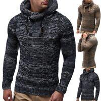 Mens Winter Sweater Warm Sweatshirt Coat Jacket Knitted Hoodies Outwear Tops Lot