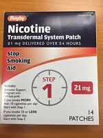 14 Rugby Nicotine Transdermal System Step 1 Patches 21mg Exp 09/2019 Ships Free