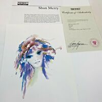Shan Merry Seriolithograph Amethysta Signed with COA 2005