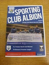 23/03/2014 West Bromwich Albion Sporting Club Ladies v Preston North End Women [