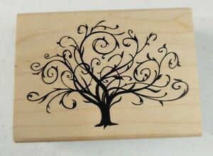 Inkadinkado ~ 97163 DD Swirly Tree ~ Rubber Stamp J2