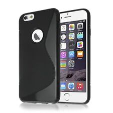 FUNDA SILICONA TPU GEL IPHONE 6 6S PLUS 5.5 COLOR NEGRO NEGRA S LINE CALIDAD