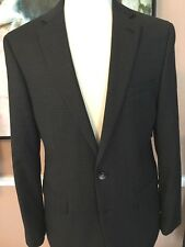 """Calvin Klein"" Stylish Dressy Slim Fit Gray Check Sport Jacket Lux 100% Wool 40R"
