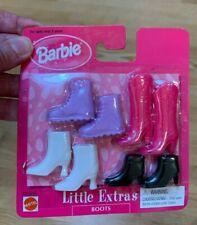 1998 VINTAGE Arco Toys Barbie Little Extras Cool Shoes - BOOTS 67036-86 -4 pair