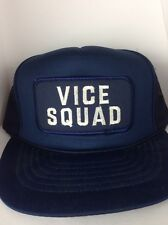 VTG Vice Squad Trucker Hat Cap Snapback Police Cop Law Enforcement Patch Mesh