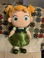 "Disney Store Frozen ANNA Toddler Baby Doll Babies Plush Stuffed Toy 12"" NICE"