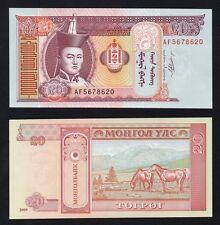 20 tugrik Mongolia 1993  FDS/UNC  .