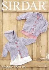 Sirdar 4812 Knitting Pattern Baby Childrens Cardigans in Sirdar Snuggly Spots DK