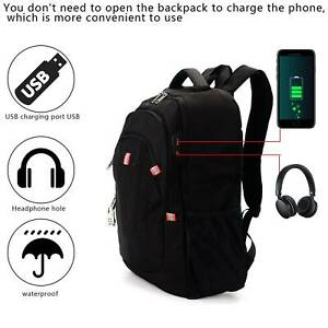 17.3 inch Laptop Backpack Rucksack Anti Theft USB Waterproof Large Shoulder Bag