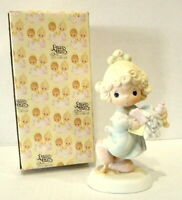 Precious Moments Lord Help Me Stick To My Job little girl in box 1989 Vintage
