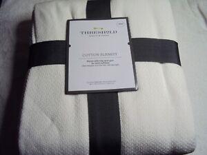 TWIN Solid 100% Cotton Blanket - Threshold
