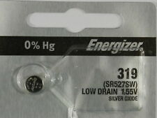 Energizer 319 SR527SW  Button Cell Silver Oxide Watch Battery, 1Pc