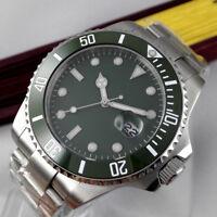 40mm PARNIS Grün dial Luminous Saphirglas Automatisch Movement Uhr men's Watches