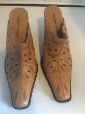 Roberto Vianni Women's Slip On Heals Leather Light Brown 9